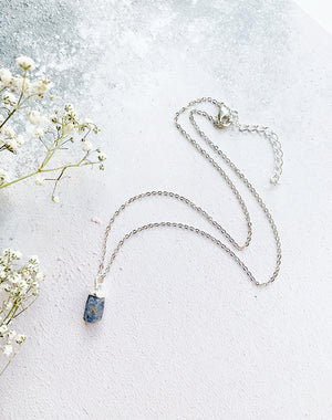 Hera Personalised September Birthstone Sapphire Necklace