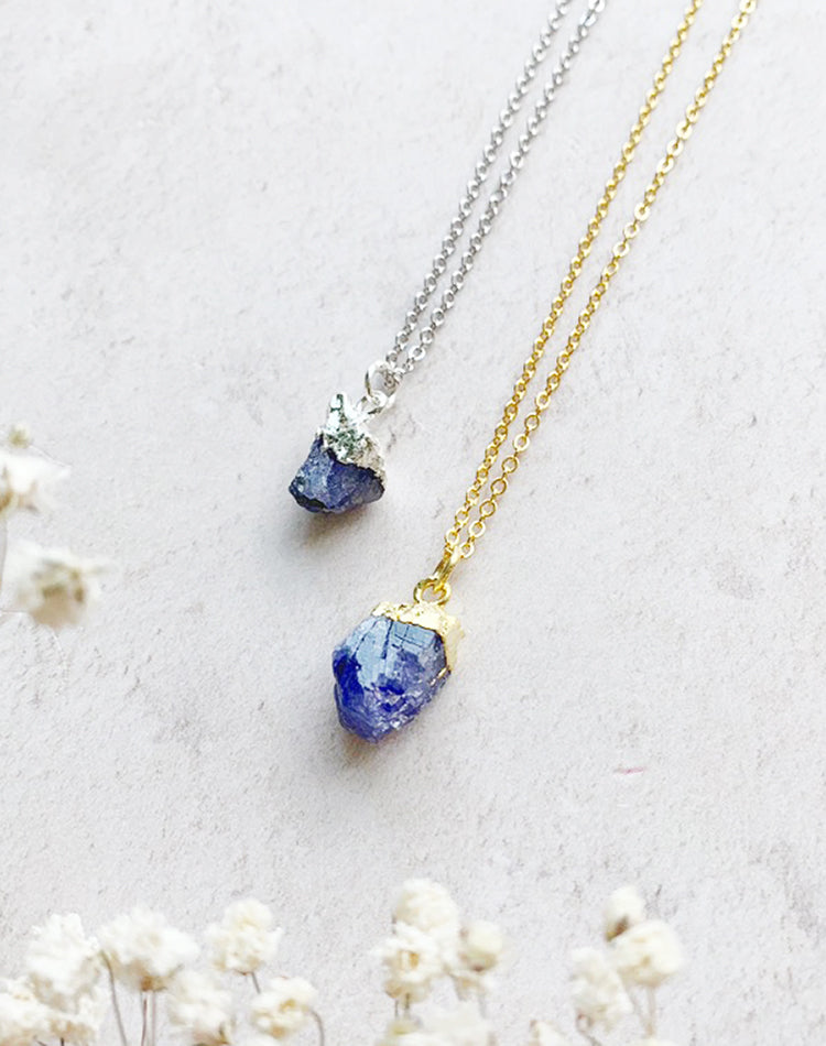 Hera Personalised December Birthstone Tanzanite Necklace