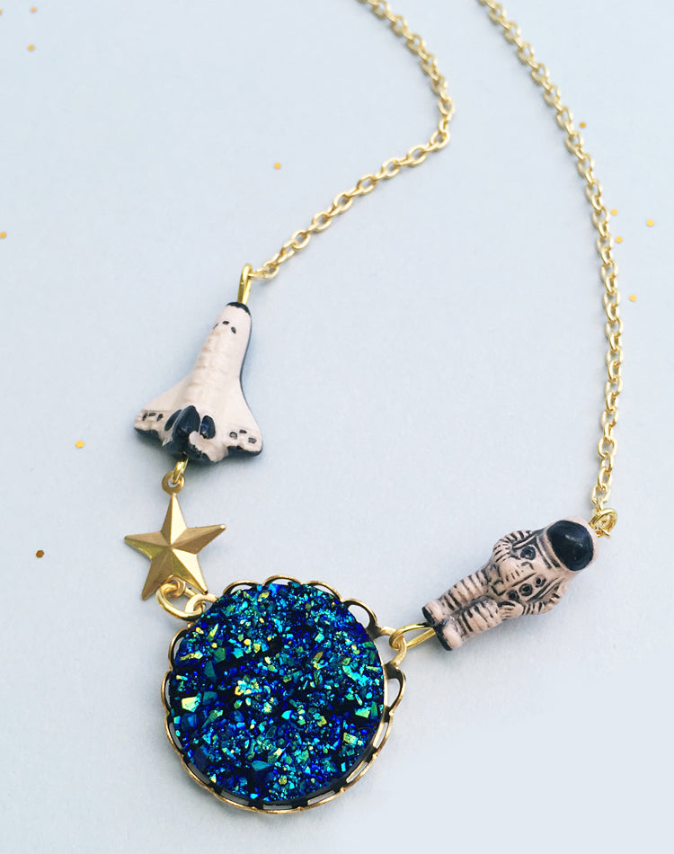 I'm Walkin' Here! Astronaut Necklace