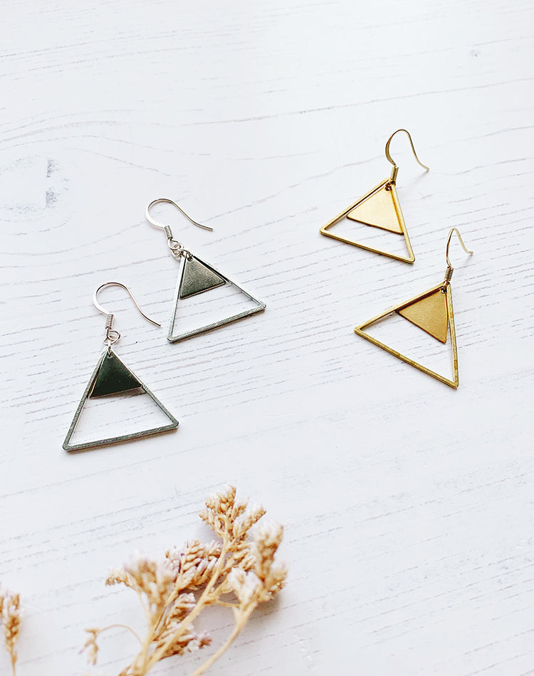 Kailash Triangle Earrings