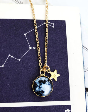 La Lune Simple Personalised Moon Pendant