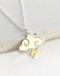 Like Lightning Sterling Silver Cloud Necklace