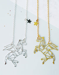 Monoceros Winged Unicorn Personalised Constellation Necklace