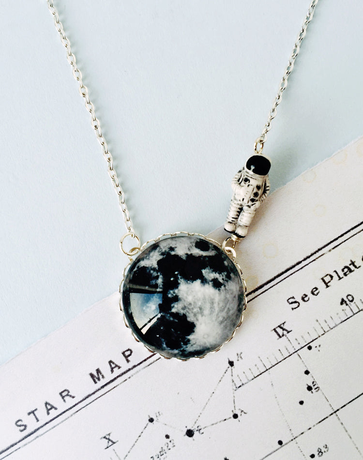 Moonwalk Outta Here Moon Necklace