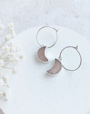 Nayyara Sunstone Hoop Earrings