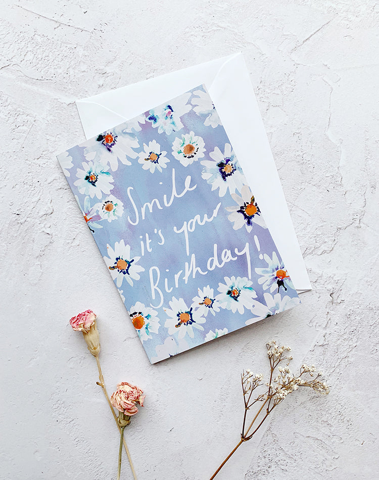 'Smile It's Your Birthday' Nikki Strange Daisy Card