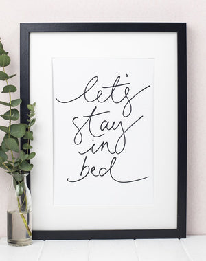 Let's Stay In Bed' Art Print by Oh Squirrel