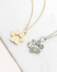Paw-Some Animal Paw Print Necklace