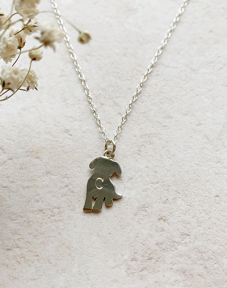 Paws - Sterling Silver Cat or Dog Personalised Necklace