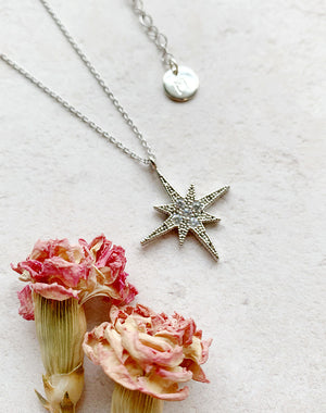 Polaris North Star Or Disc Personalised Necklace