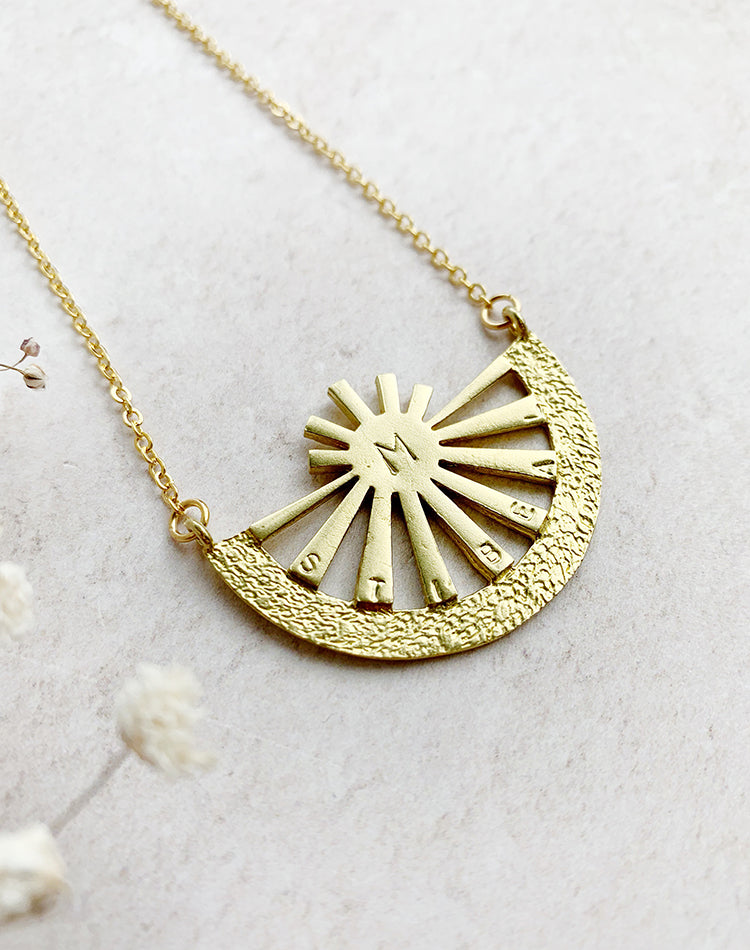 Ray of Sunshine - Personalised Family Sun Necklace