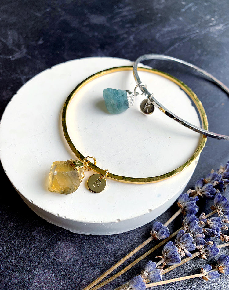 Rhea - Birthstone Bangle