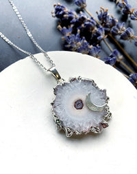 Rime - Silver Gilded Agate Necklace