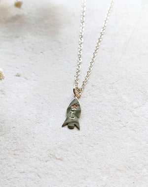 Rocket Personalised Sterling Silver Necklace