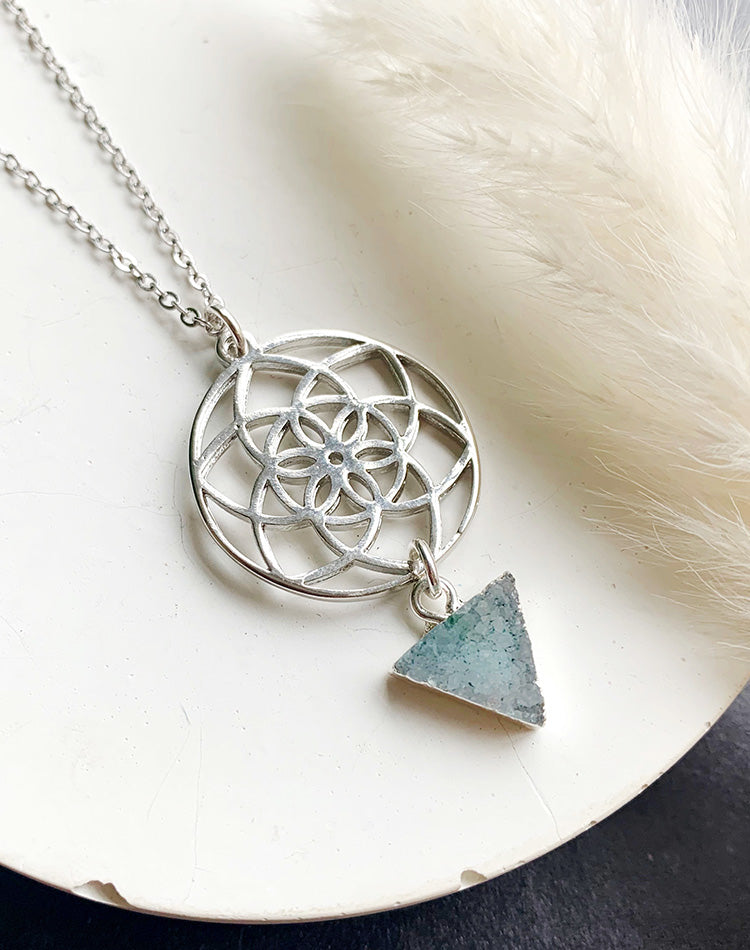 Sanctuary - Flower Mandala Necklace