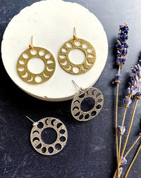 Sequentia - Moon Phase Earrings