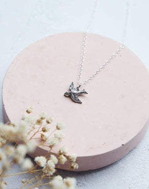 Aide Sterling Silver Bird Necklace