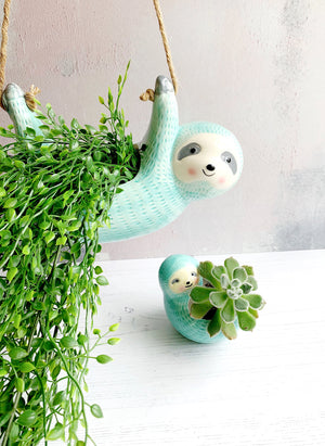 Sloth hanging planter