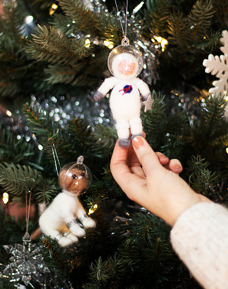 Space Dog or Astronaut Christmas Tree decorations by Sass & Belle