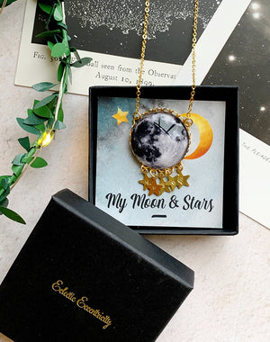 Personalised Sphere of Influence Moon Necklace