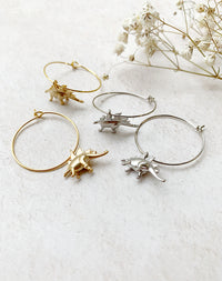 Spike - Stegosaurus Dinosaur Hoop Earrings