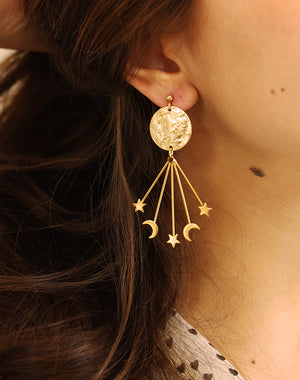 Star Gazer Statement Celestial Earrings
