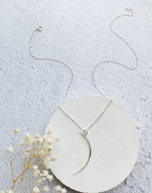 Stay In Your Magic - Crescent Moon Sterling Silver or Gold Fill Necklace