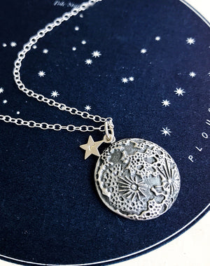 Astral Sterling Silver Personalised Moon Necklace