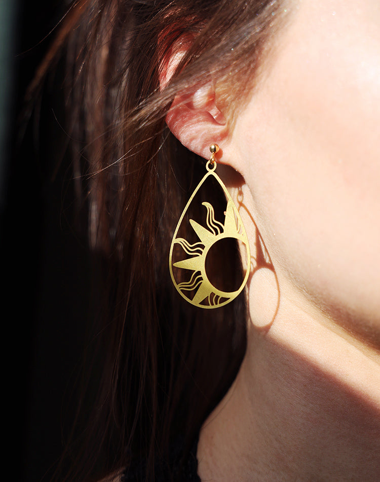 Rise & Shine Sun Drop Geometric Earrings
