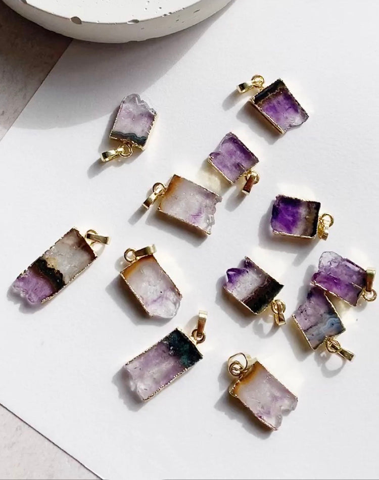 Taygete Personalised Amethyst Necklace