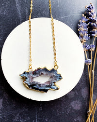 Tempest - Agate Slice Necklace