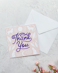 Thank You Cats Greetings Card by Papio Press