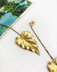 Turn Over A New Leaf Drop Earrings