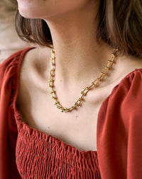 Layered - Gold plated Chunky U Chain