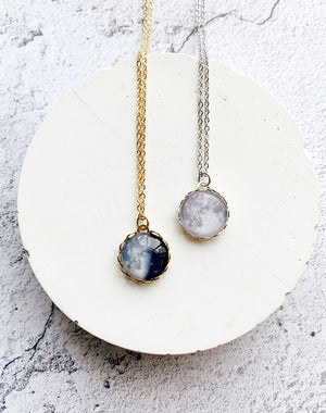 Under This Moon Personalised Moon Phase Necklace