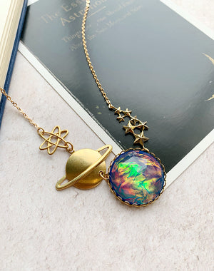 Up and Atom Space Necklace