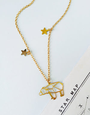 Ursa Major Personalised Constellation Bear Necklace