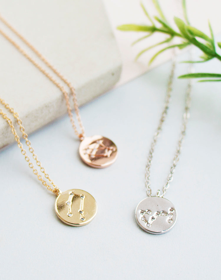 Written In The Stars Star Sign Zodiac Necklace