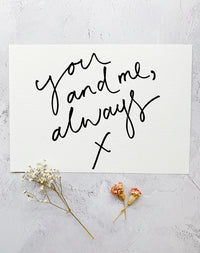 'You & Me Always' Art Print by Oh Squirrel