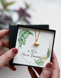 You're Roarsome - Dinosaur Necklace Gift