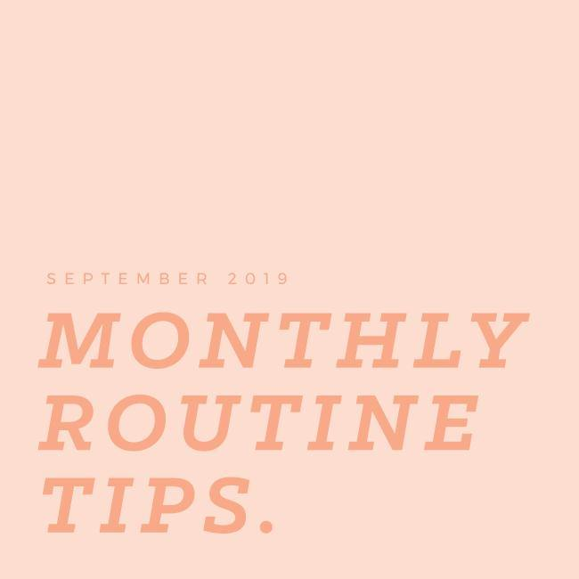 MONTHLY ROUTINE TIPS: SEPT 2019 - Aleenta BARRE