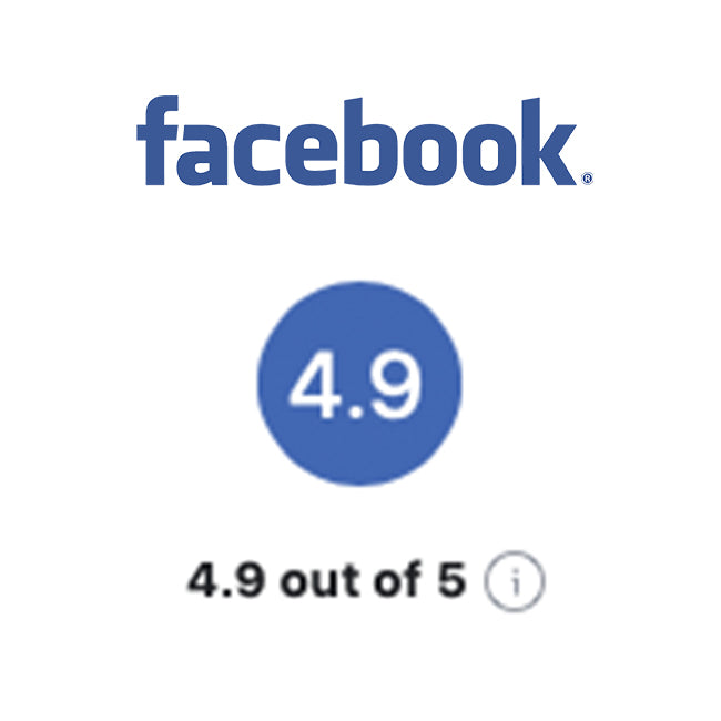 Facebook Reviews - 4.9 out of 5 Stars