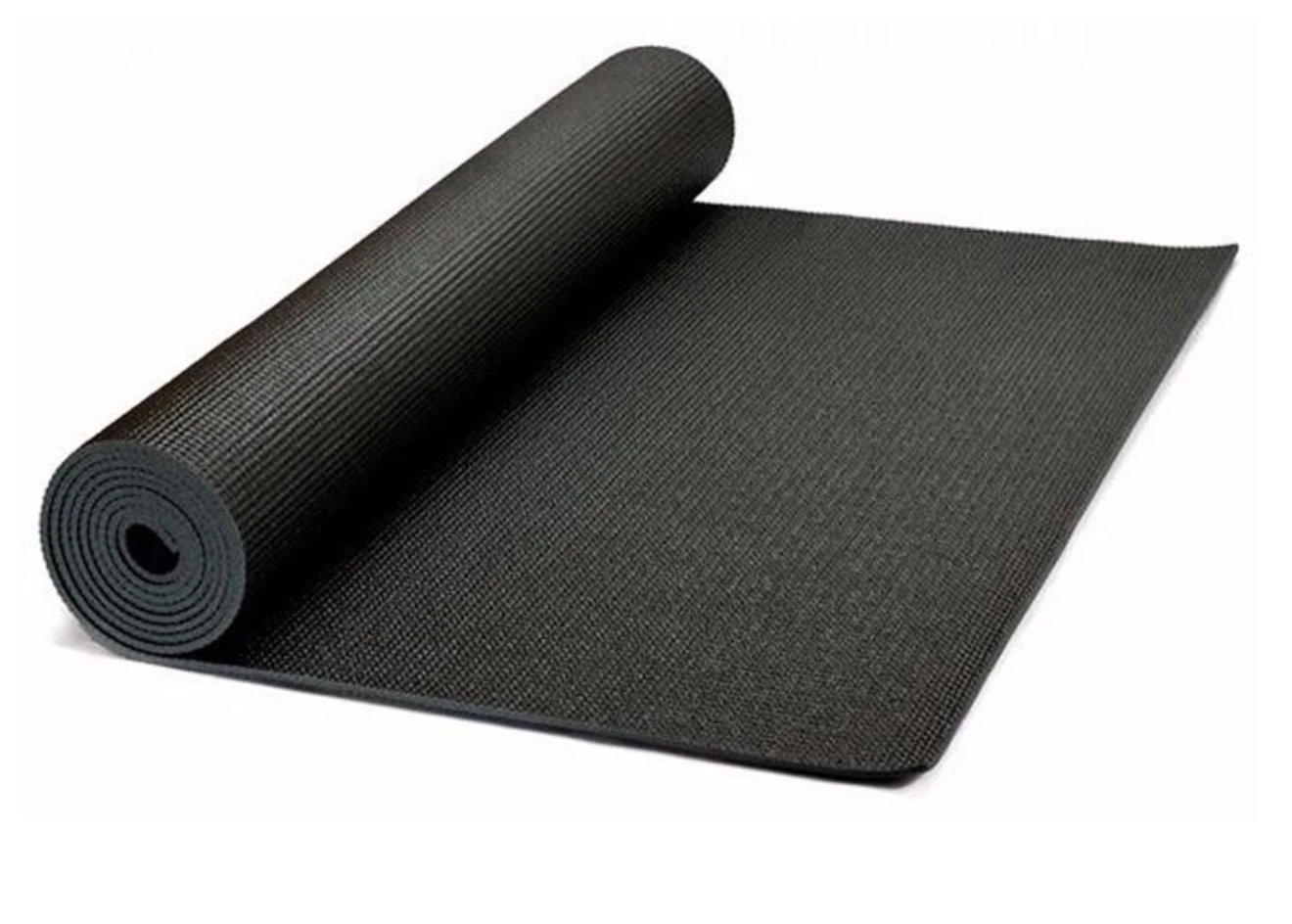 Premium Black Yoga Mat - Studio Quality, High Density