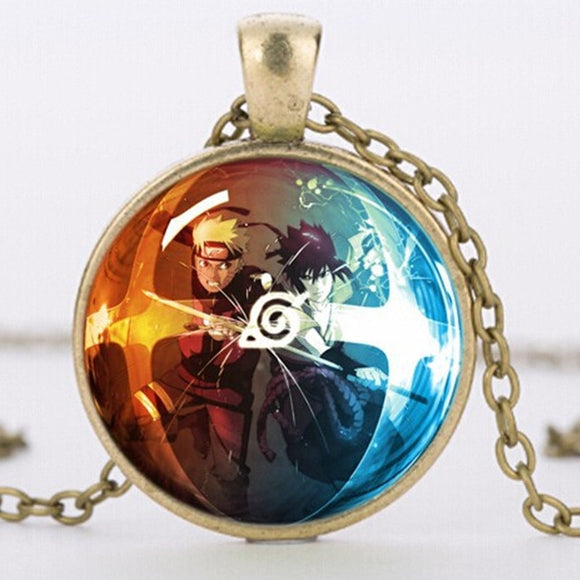 Free! Naruto Glass Dome Necklace (3 types)