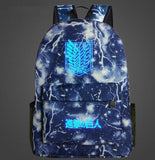 Attack on Titan Backpack glow in the dark (9 types)