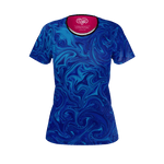 Ebb & Flow (Blue) - Recycled Poly Women's Tee
