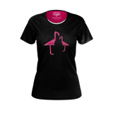 Geometric Flamingo (Black) - Women's Tee