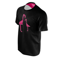 Geometric Flamingo (Black) - Men's Tee