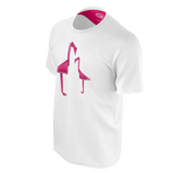 Geometric Flamingo (White) - Men's Tee