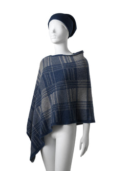 Chloe Checkered Poncho + Matching Beanie (Special Offer)